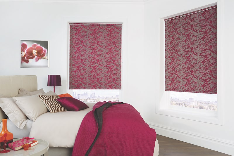 Roller blinds from Tathra blind shop in red