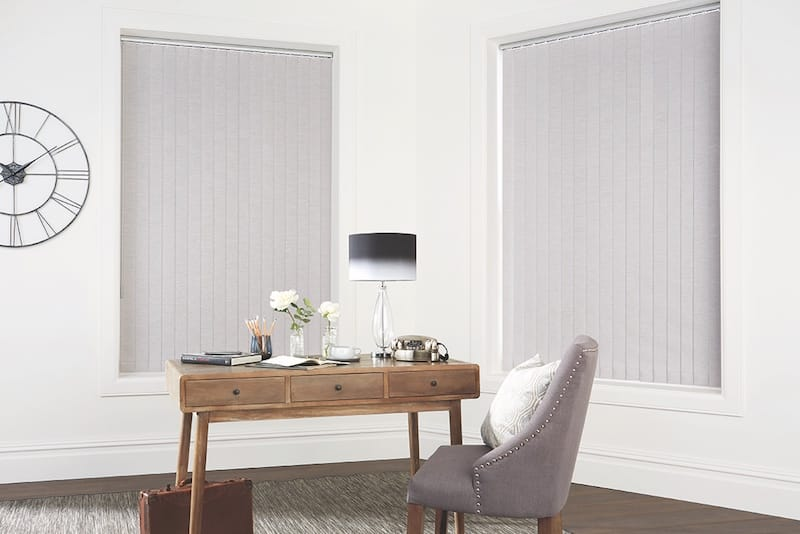 Vertical Chenille Silver Blinds